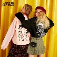 Casual ELFSACK ฤดูใบไม้ร่วงเกาหลี เสื้อผ้าผู้หญิง