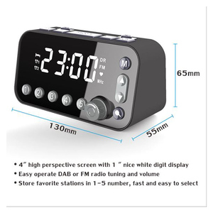 Image 2 - Portable DAB & FM Radio Digital Alarm Clock Dual USB Port Sleep Timer for Office Bedroom Mini Radio with 4 inch LED Display