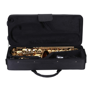 Image 5 - ammoon Eb Alto Saxophone Brass Lacquered Gold E Flat Sax 802 Key Type Woodwind Instrument with Cleaning Brush Cloth Gloves Strap