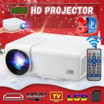 HD portable Mini Projector Native 480x320P LED WiFi Projector Video Home Cinema 3D HDMI Movie Game Proyector mini projector dl s9 portable dlp wifi bluetooth projector dlna android4 4 os battery home cinema