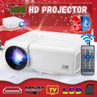 HD portable Mini Projector Native 480x320P LED WiFi Projector Video Home Cinema 3D HDMI Movie Game Proyector