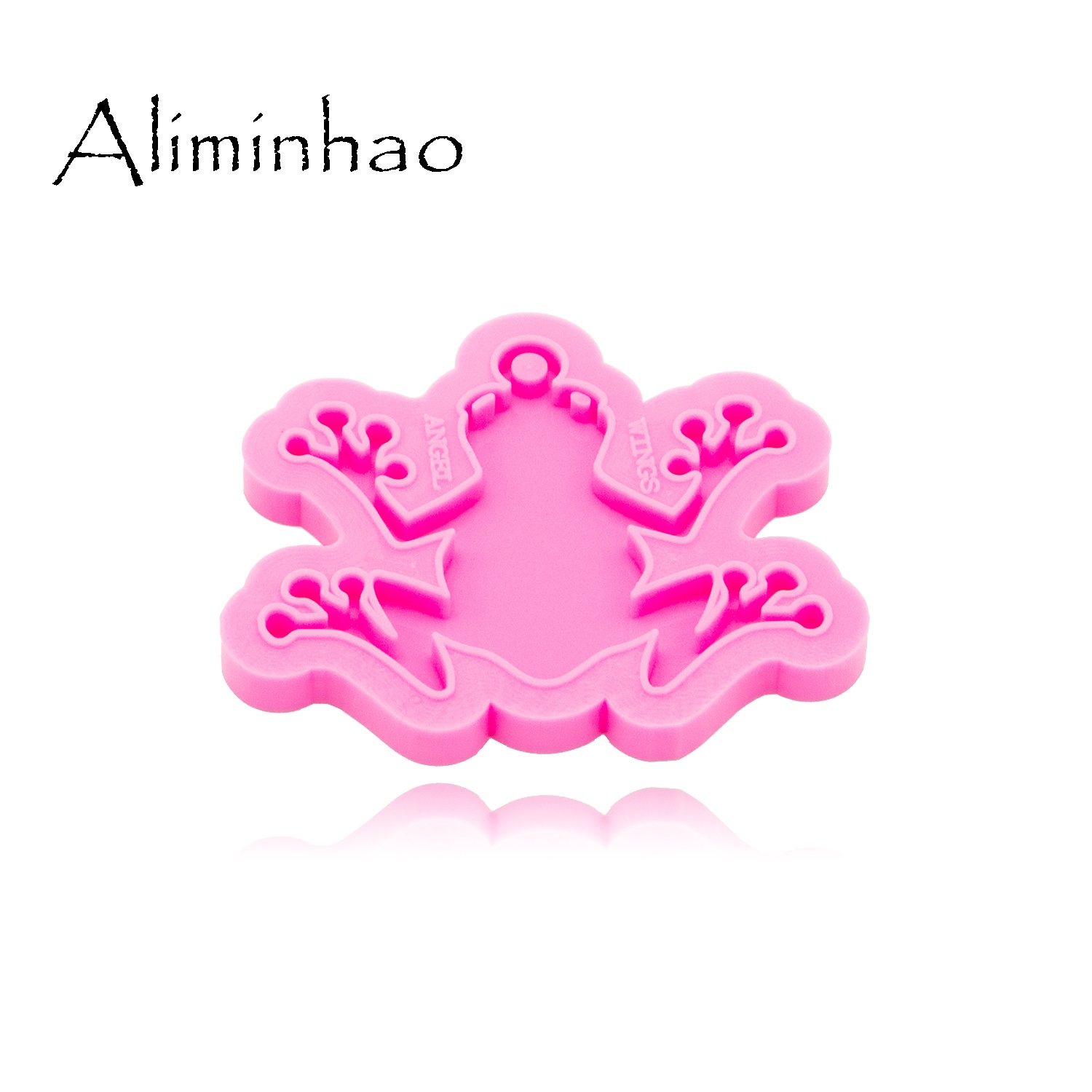 Shiny Frog Silicone Mould for DIY Keychain Jewelry Epoxy Resin Crafting Mould