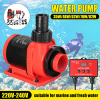 Professional 35/48/62/70/82W Silent Digital Submersible Water Fountain Pump Filter Fish Pond Aquarium Water Pump Tank Fountain