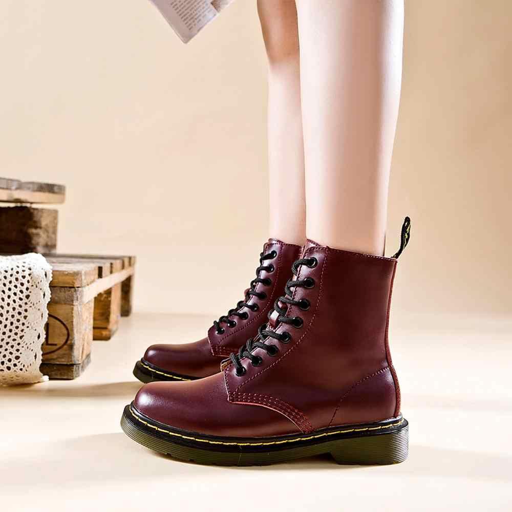 สีดำรองเท้าซิปผู้หญิงรองเท้าหนังแท้ Cross-tied บู๊ทส์บู๊ทส์ผู้หญิง Wedges Punk รองเท้ารองเท้า
