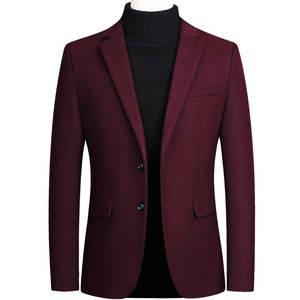 Suit Jacket Homme Business Wedding Formal Veste Blazers Casual Mens Black Red Grey Slim