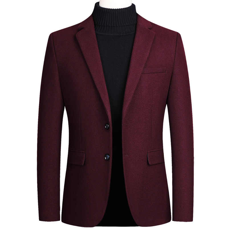 Herren Woll Formale Hochzeit Tudexo Anzug Jacke Männer Business Casual Dünne Wolle Blazer Schwarz Grau Rot Veste Homme Plus Größe 4XL