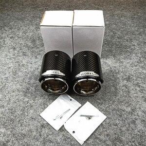Image 2 - 1 قطعة أعلى جودة الكربون العادم الخمار نصائح ل ميني كوبر S R55 R56 R57 R58 R59 R60 R61 F54 F56 F57 F60 JCW الخمار أنابيب