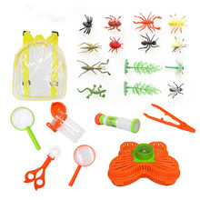 Various animals insect beetle Butterfly Model Catching insects tool Camp outdoors Early education Toys Gift For Children все цены