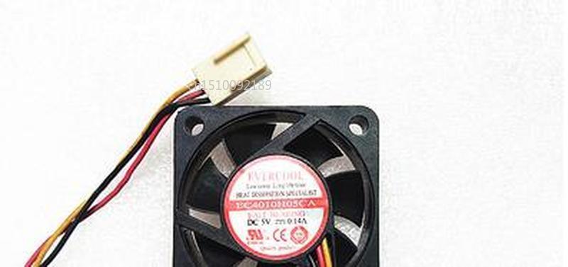 For Original Jaguar Cold EVERCOOL 4010 EC4010H05CA DC5V 0.14 A 4 Cm Fan CPU Power Free Shipping