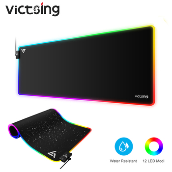 VicTsing PC247 RGB Gaming Mouse Pad Large Mouse Pad Gamer Led Computer Mousepad Big Mouse Mat With Backlight Carpet For Keyboard 2018 new samdi wood mouse pad with pen slot luxury computer mouse pads birch walnut mouse mat for apple mouse apple pen pencil