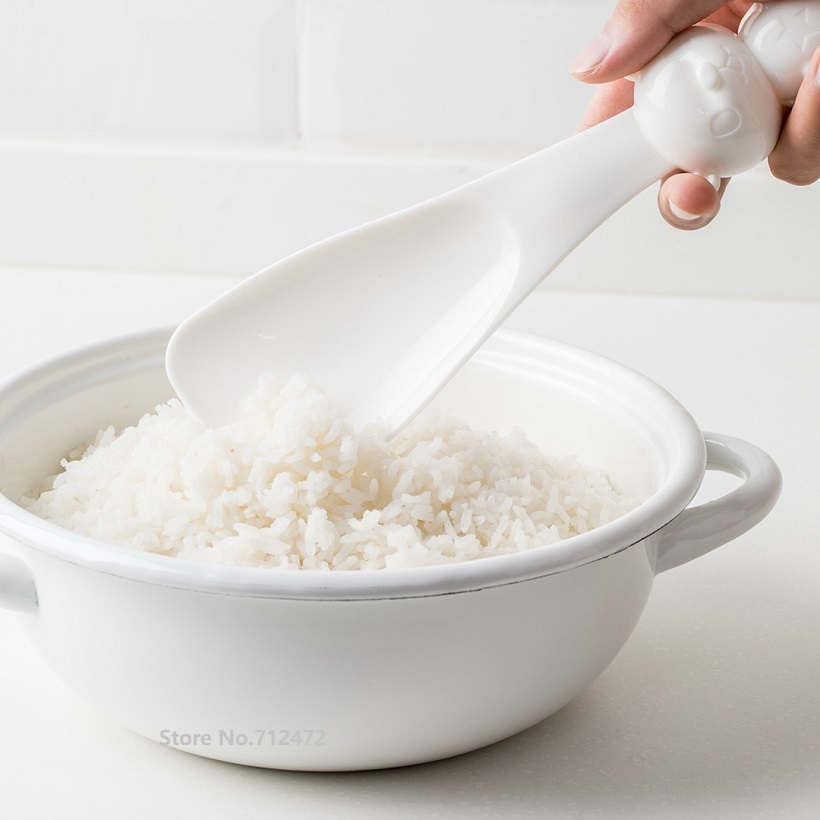 Xiaomi New Cute Cartoon Bear Rice Scoop Rice Spoon Non Sticky Vertical Stand Rice Scoop Soup Sauce Ladle Kitchen Tool Dinner