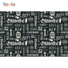 Yeele Oktoberfest Party Photocall Graffiti Word Beer Photography Backdrop Personalized Photographic Backgrounds For Photo Studio
