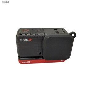 Image 1 - Silikonowa osłona obiektywu osłona przeciwpyłowa osłona ochronna dla Insta360 ONE R 4K obiektyw szerokokątny 360 ° kamera panoramiczna akcesoria