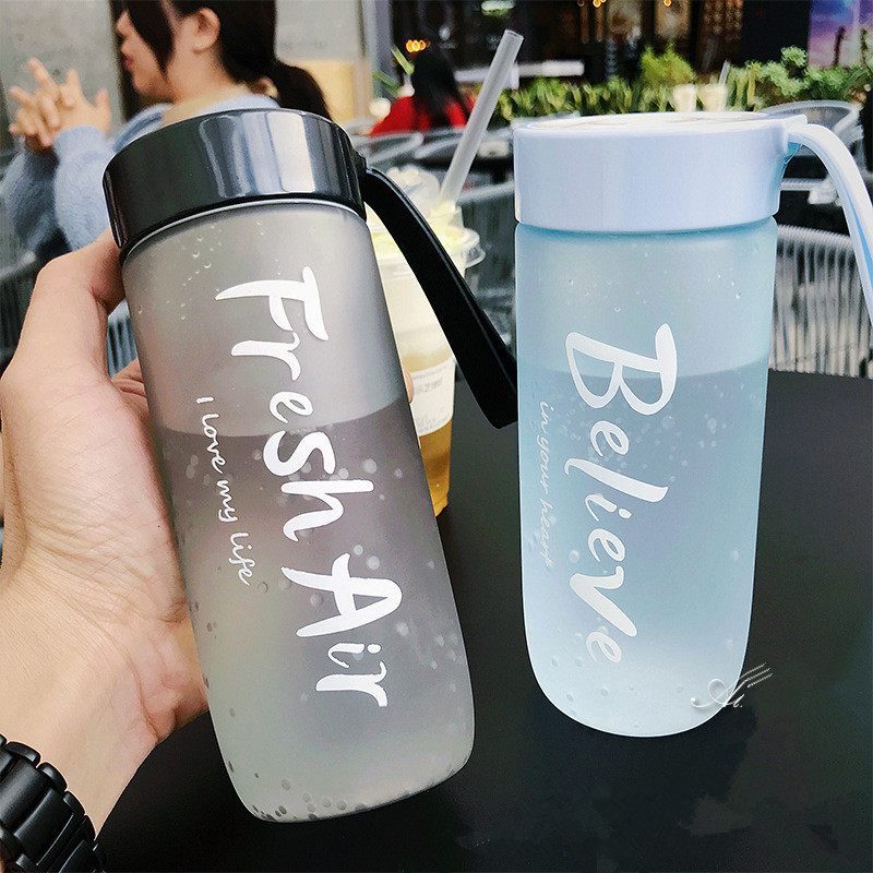 Ha92a1f7b29bb4d6f9a2c8acc1f1a7000h 590ML Portable Sport Camping Cycling Travel Plastic Juice Water Bottle Fashion Large Capacity Bottles Heat Resistant Bottle