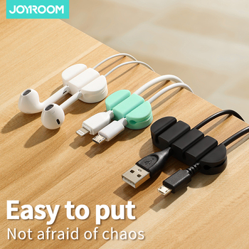 Cable Organizer USB Cable Winder Flexible Silicone Wire Management Clips For Headphone Earphone Mouse Data Cable Wrap Holder silicone cable organizer usb cable holder flexible cable winder management cable clips holder for mouse keyboard earphone wire