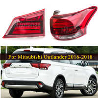 MIZIAUTO Inner/Outer Tail Light For Mitsubishi Outlander PHEV 2016-2018 Rear Tail Stop Brake Lamp Car Parts Bumper Warning Light