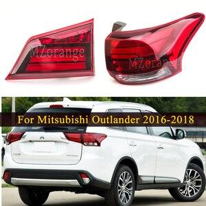 Miziauto interior/exterior luz da cauda para mitsubishi outlander phev 2016-2018 traseiro cauda parar lâmpada de freio peças do carro pára-choques luz de advertência
