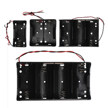 1Pcs 1X 2X 3X 4X סוללה מקרה מחזיק מיכל פלסטיק 1.5V 3V 4.5V 6V עבור D גודל סוללות עם מוביל Wired אין כיסוי & מתג