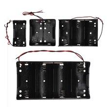 1Pcs 1X 2X 3X 4X Batterie Fall Halter Container Kunststoff 1,5 V 3V 4,5 V 6V Für D Größe Batterien Mit Führt Verdrahtete Keine Abdeckung & Schalter