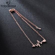 Todorova Fashion Medical Heartbeat Cardiogram Bracelets Women Stainless Steel Bracelet Special Gifts for Nurse Doctor Jewelry татуировка переводная heartbeat