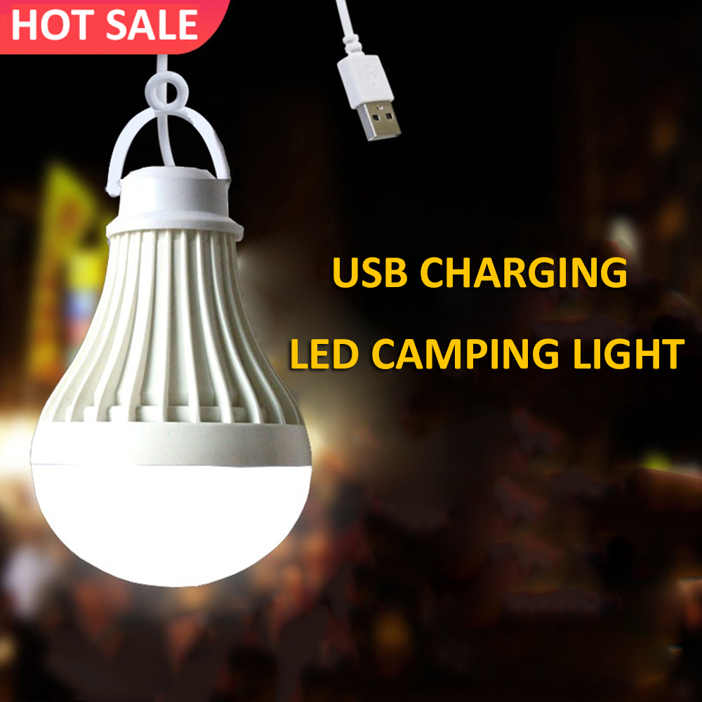 7W Camping Light USB Charge Portable Lantern LED Camping Lamp SMD5730 Chips Tent Light Bulb For Outdoor Hiking Travel