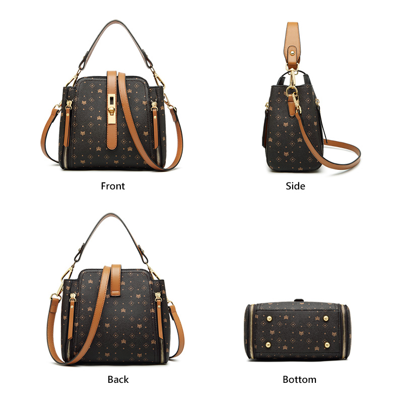 FOXER Slady Vintage Women Leather Handbag