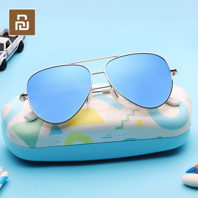 Youpin TS אופנה בציר משקפי שמש קלאסית מתכת מסגרות TAC מקוטב משקפי שמש אנטי UV ילדי Chirdren משקפי שמש Eyewear
