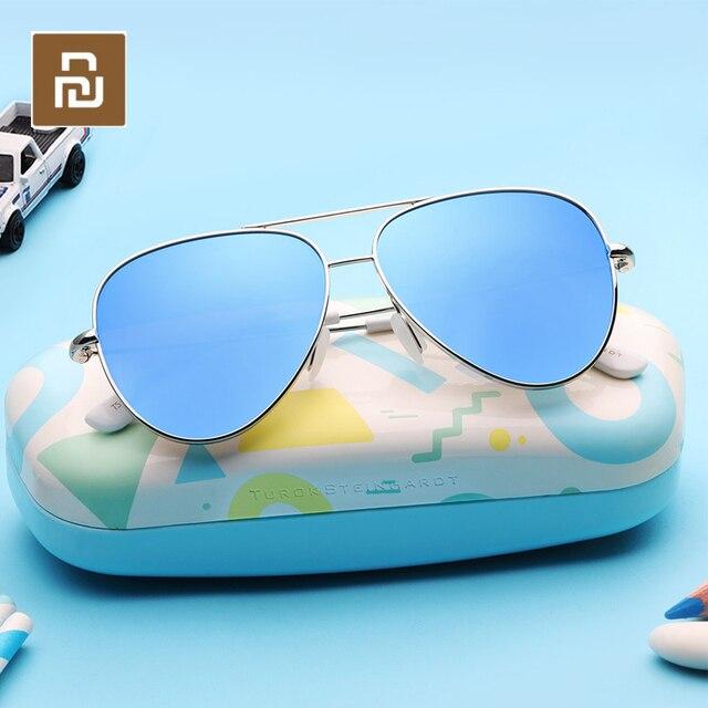 Youpin TS Модные Винтажные Солнцезащитные очки Классическая Металлическая оправа TAC поляризованные солнцезащитные очки с защитой от УФ детские солнцезащитные очки