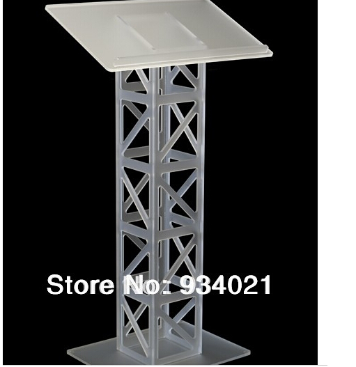Free Shipping  Detachable Clear Acrylic Lectern / Acrylic Podium Stand / Crystal Acrylic Pulpit Church Pulpit Plexiglass