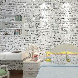 Zwart Wit Behang schoolbord geometry math formule persoonlijkheid behang kinderkamer cafe eetkamer thema behang