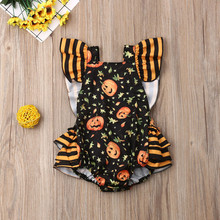 MUQGEW New Romper Costume For Newborn Infant Baby Girls 2019 Halloween Pumpkin Clothes Outfits Overalls for children