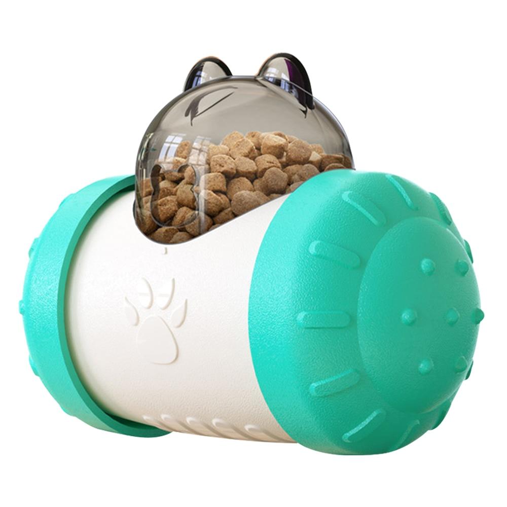 Blue-Pet Dog Cat Toys Tumbler Pet Educational Interactive Toy Food Leaker Ball