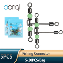 Lure-Line Connector Fishhook Fishing-Tackle DONQL Bearing Rolling No Luminous-Beads T-Shape