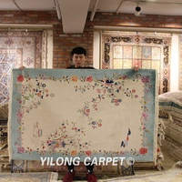 YILONG 4'x6' New arrival handmade chinese art silk carpet elegant home rug hot sale