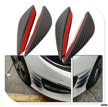 4Pcs Fiber car auto Canards Front Bumper fin for Mercedes Benz E53 C63 C43 C-Class AMG GL550 F800 A200 ML500 ML350 GL450 image