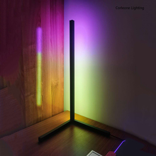 Nordic RGB Corner Table Lamp Modern Simple LED Table Lamps for Bedroom Bedside Night Stand Lamp APP Control RGB Light Fixture