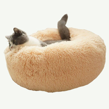 Super Soft Long Plush Cat Bed House Round Pet Carpet Winter Warm Sleeping Washable Puppy Cushion