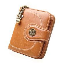 Горячая Распродажа кожаный кошелек для монет с масляным воском