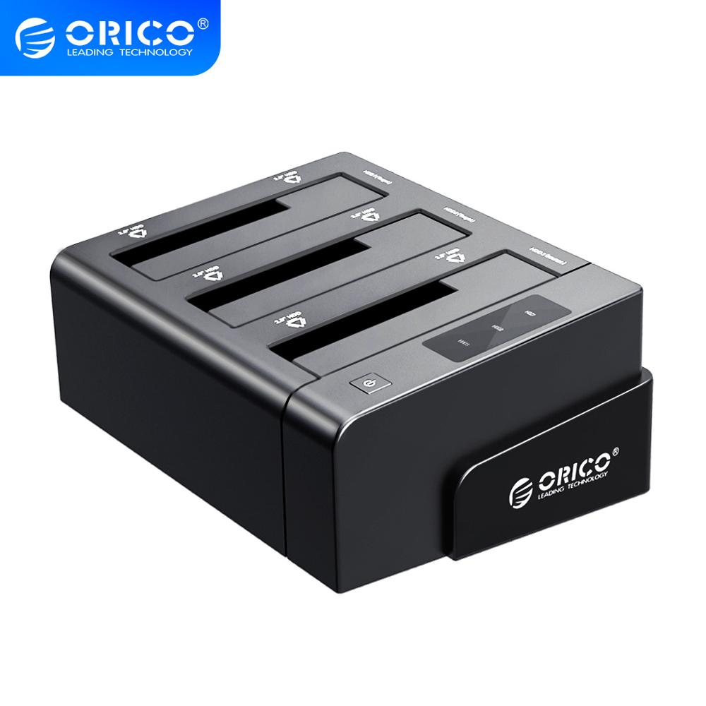 ORICO 3-Bay USB 3.0 HDD Dock Station for 2.5 3.5 inch SATA Hard Drive HDD Support Clone With 12V5A Power Adapter Support 18TB(China)