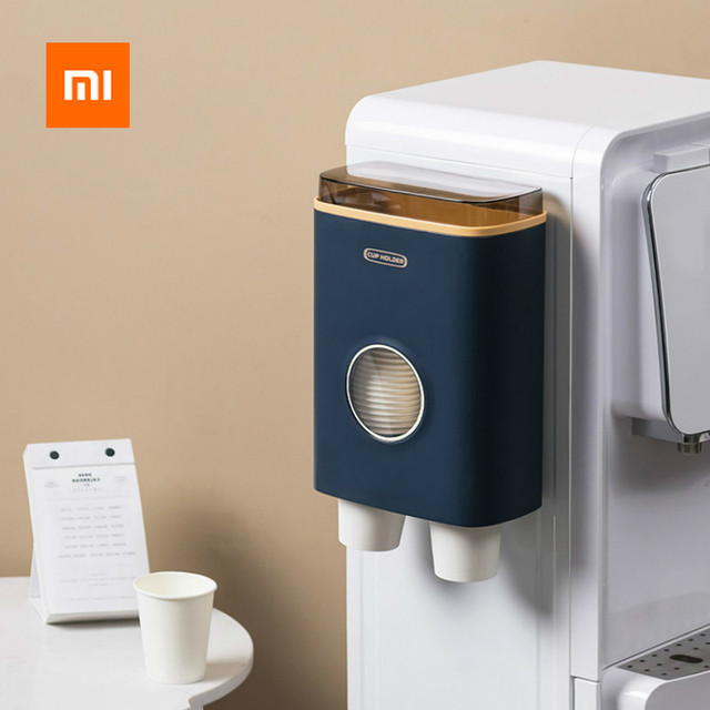 Xiaomi copo de papel descartável copo suporte rack não perfurado chá café recipiente para escritório restaurante máquina de café