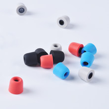 1Pair(2pcs) 5mm T400 Noise Isolating Memory Foam Ear Tips Ear Foam Eartips For In Ear Earphone Earbud Headset For ZST ZS10(China)