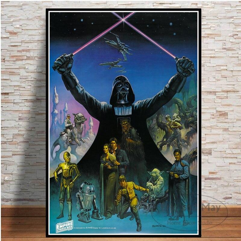 Pósteres e impresiones clásicos de Star Wars, Darth Vader, pintura en lienzo, cuadro artístico para pared, póster decorativo de película Vintage para decoración del hogar