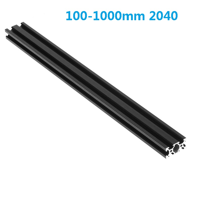 Black 100-1000mm Length <font><b>2040</b></font> <font><b>V</b></font>-<font><b>Slot</b></font> Aluminum Profile Extrusion Frame for CNC Laser Engraving Machine 3D Printers Camera Slider image