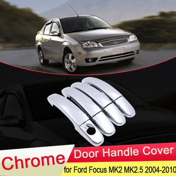 for Ford Focus 2 MK2 MK2.5 2004 2005 2006 2007 2008 2009 2010 Chrome Door Handle Cover Exterior Trim Car Stickers Accessories image