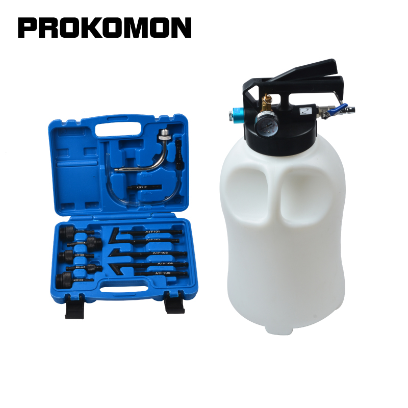 13Pcs Oil Refill Filling ATF Adapters 10L Pneumatic Transmission Oil Refilling Tool Extractor Dispenser Pump Kit