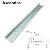 T tracks Aluminium Slot Mijter Track Jig Armatuur voor Router Tafel Bandsaws Houtbewerking Tool 300mm/400mm /600mm/800mm TP 095|Handgereedschapssets|Gereedschap -