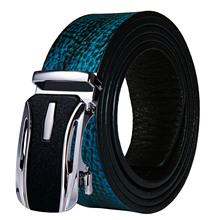 Cow Genuine Leather Men's Belt Luxury Alloy Automatic Buckle