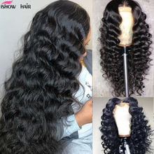 Ishow Loose Deep Wave Wig 13x4 Lace Front Human Hair