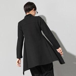 Image 2 - XITAO Vintage czarny golf T koszula kobiety Plus rozmiar Kawaii Casual z długim rękawem nieregularne koszule koreańskie ubrania nowy ZLL1177