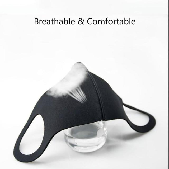 10pcs  Mouth Face Anti Pm2.5 Dust Mouth  Activated Carbon Filter Korean Fabric Face  Cotton Black Dustproof Sport 2